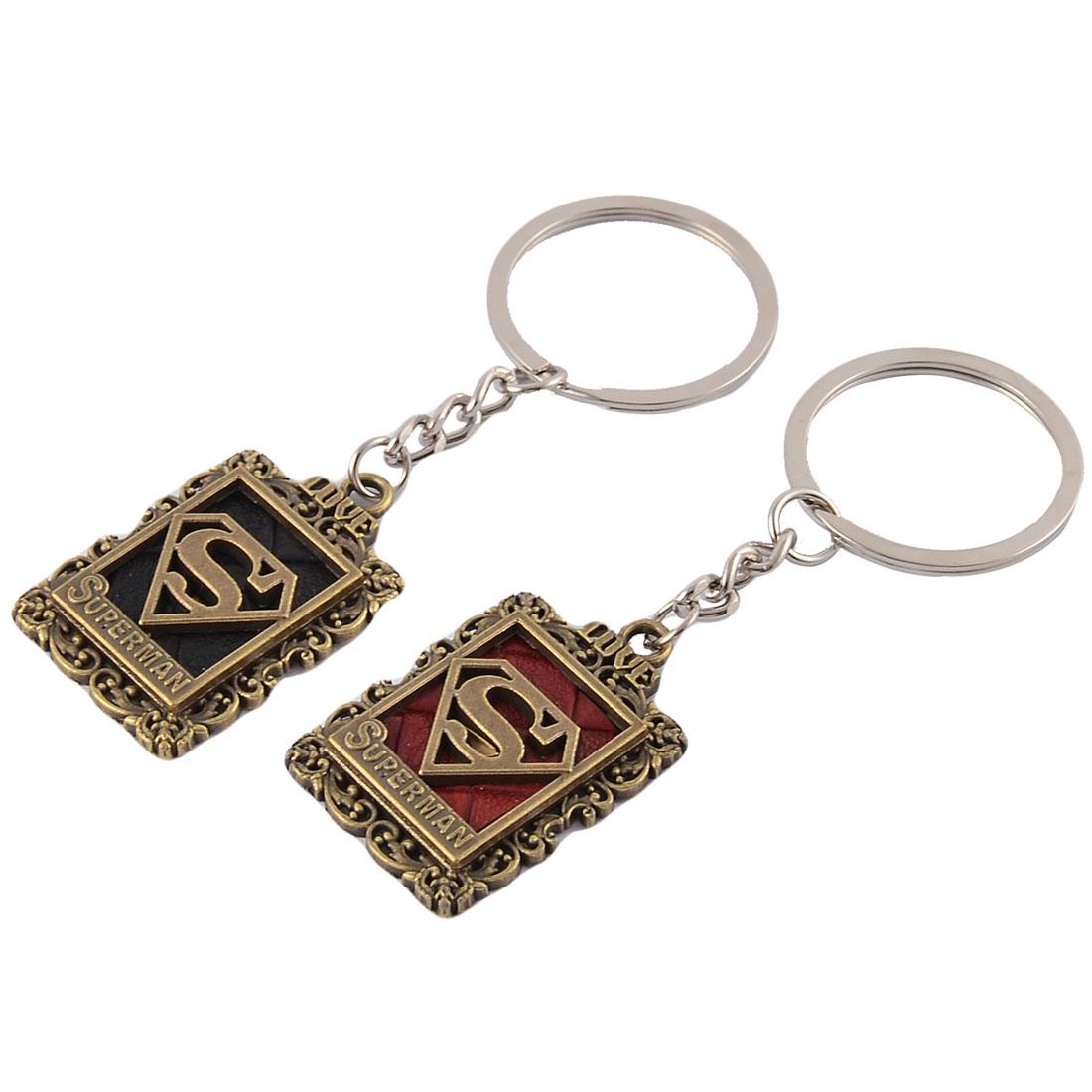 Couples Mobile Phone Pendants Decorative Keychain Key Ring Holder Keyring 2pcs