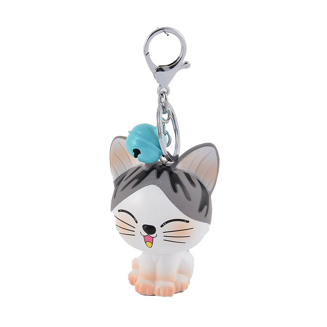 Purse Bags Rubber Pendant Decoration Keychain Key Holder Split Ring Keyring