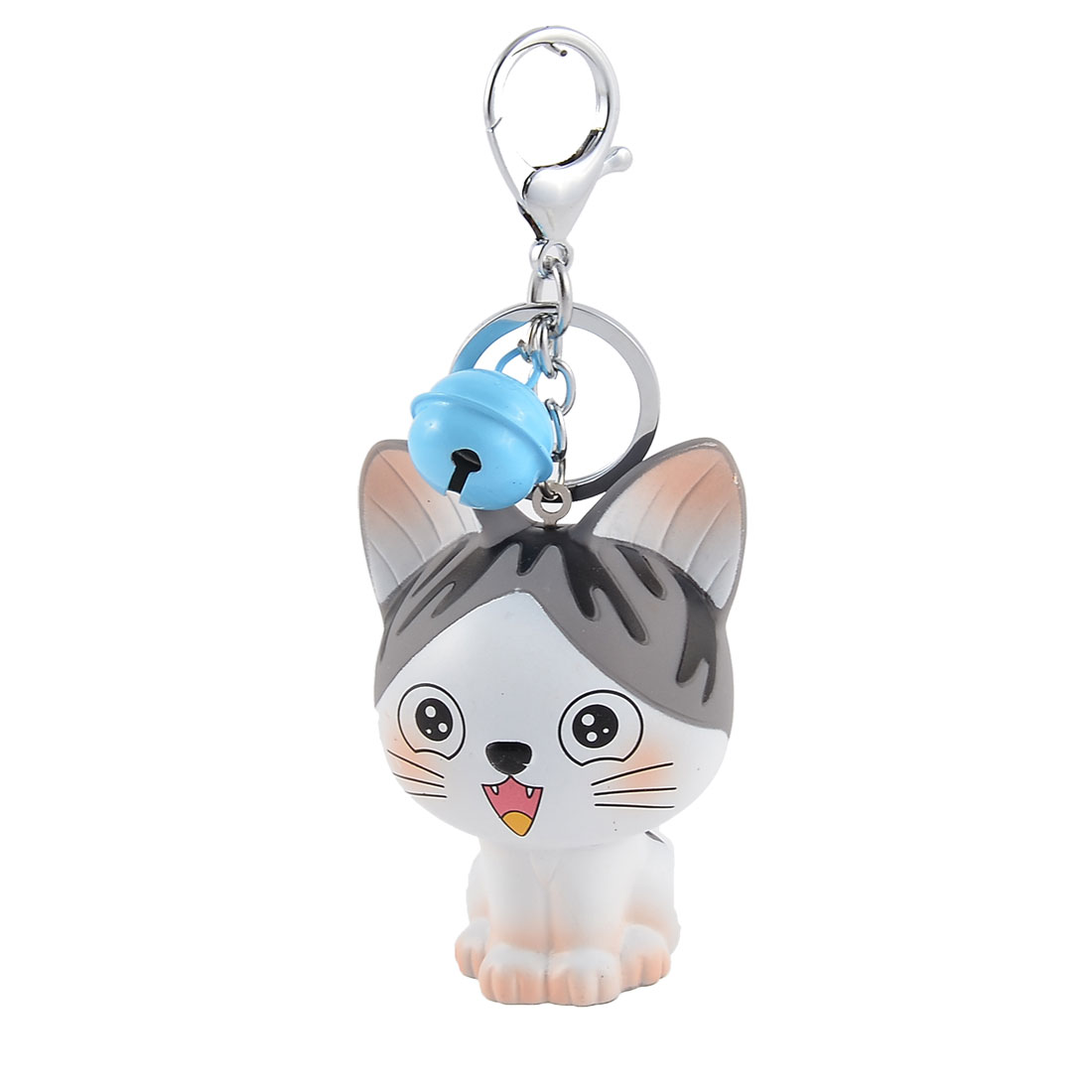 Wallet Bags Cat Shaped Pendant Ornament Keychain Key Ring Keyring Gray White