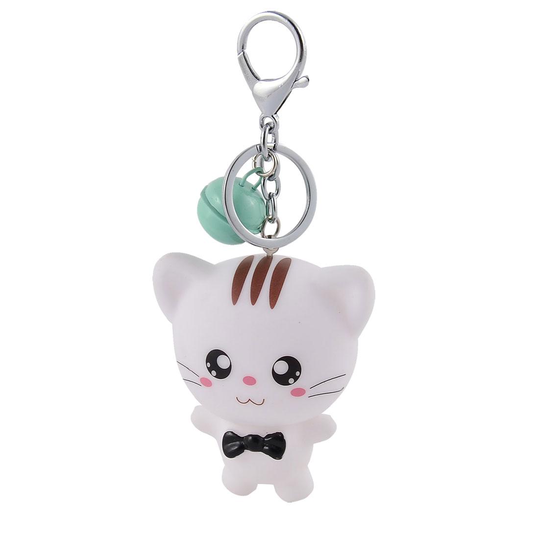 Metal Ring Cat Shaped Pendant Hanging Decor Keychain Key Fob Keyring