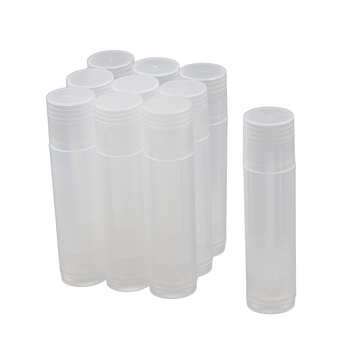 Women Plastic Empty DIY Lip Balm Tube Lipstick Chapstick Container Cosmetic Holder Clear 10 Pcs