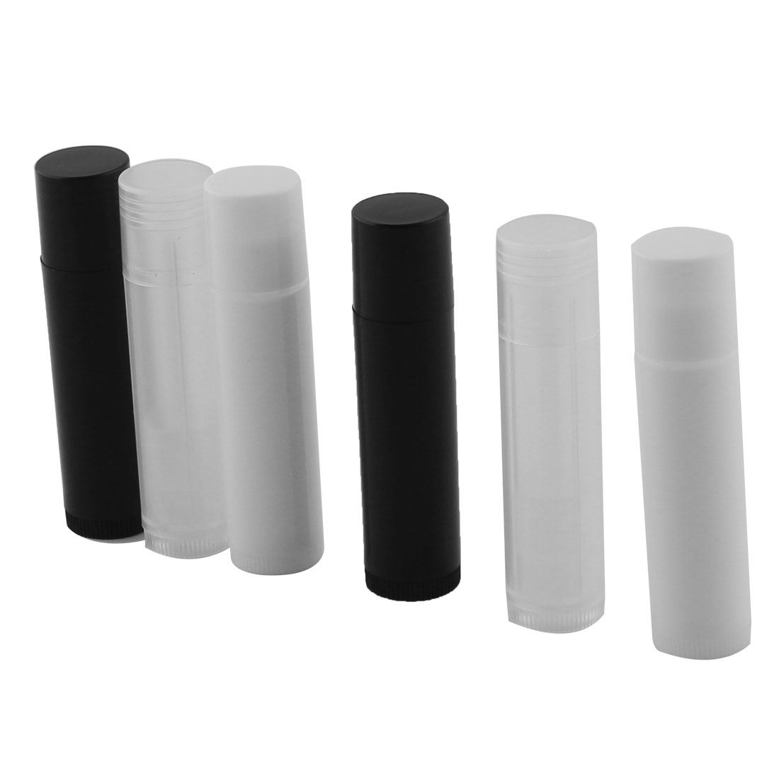 Women Plastic Empty Lip Balm Tube Lipstick Chapstick Container Assorted Color 6 Pcs