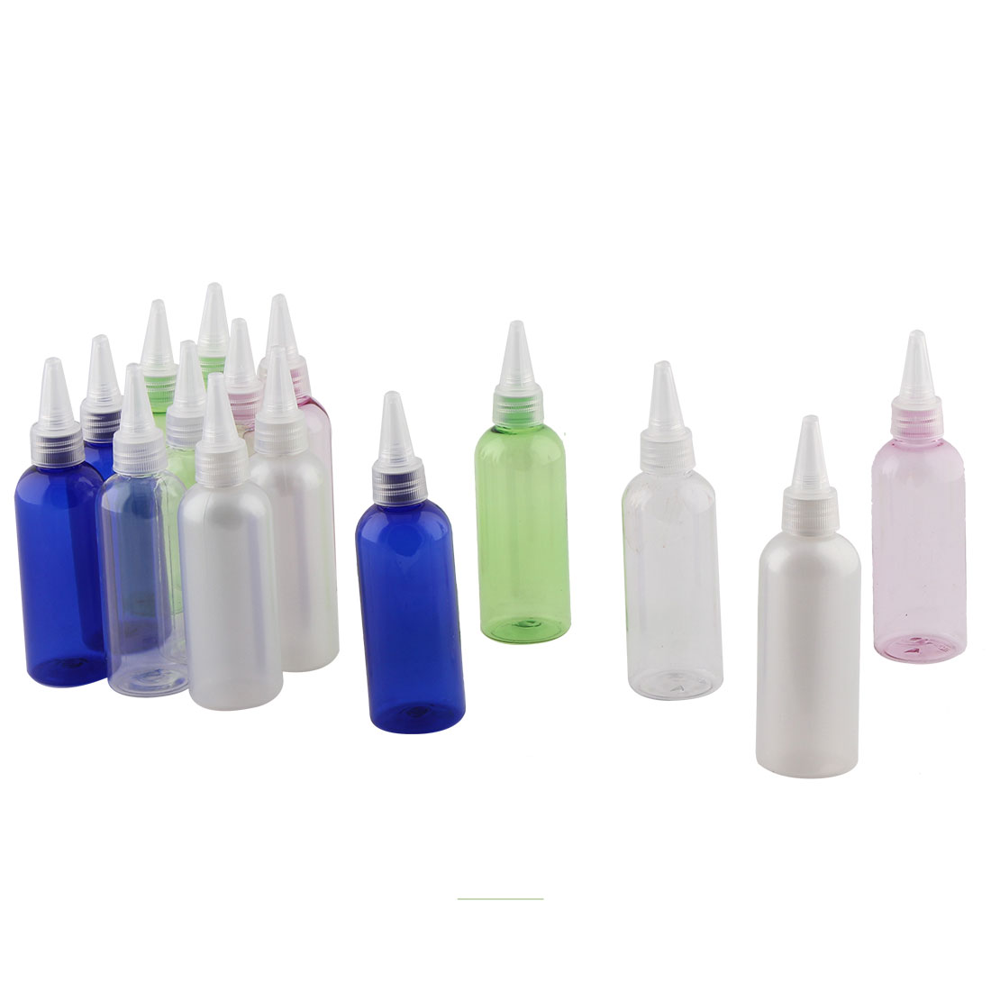 Lady Cosmetic Water Perfume Plastic Spray Bottle Holder Container Assorted Color 100ml Capacity 15 Pcs