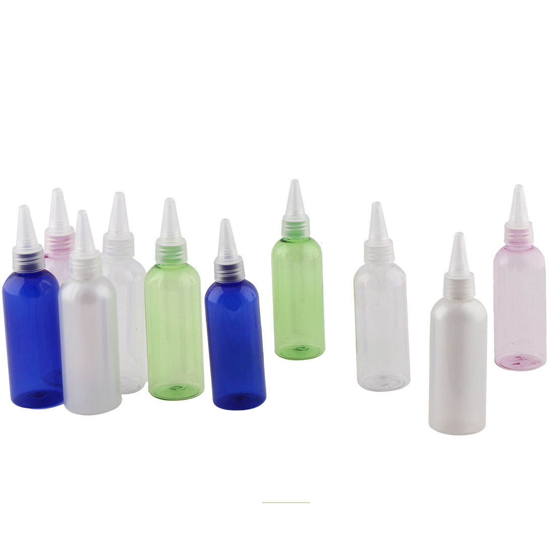 Lady Cosmetic Water Perfume Plastic Spray Bottle Holder Container Assorted Color 100ml Capacity 10 Pcs