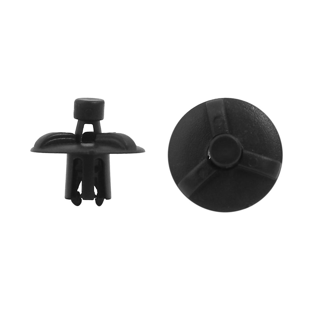 20 Pcs 7mm Hole Plastic Push Type Rivet Retainer Fastener Pin Clips for Automobile