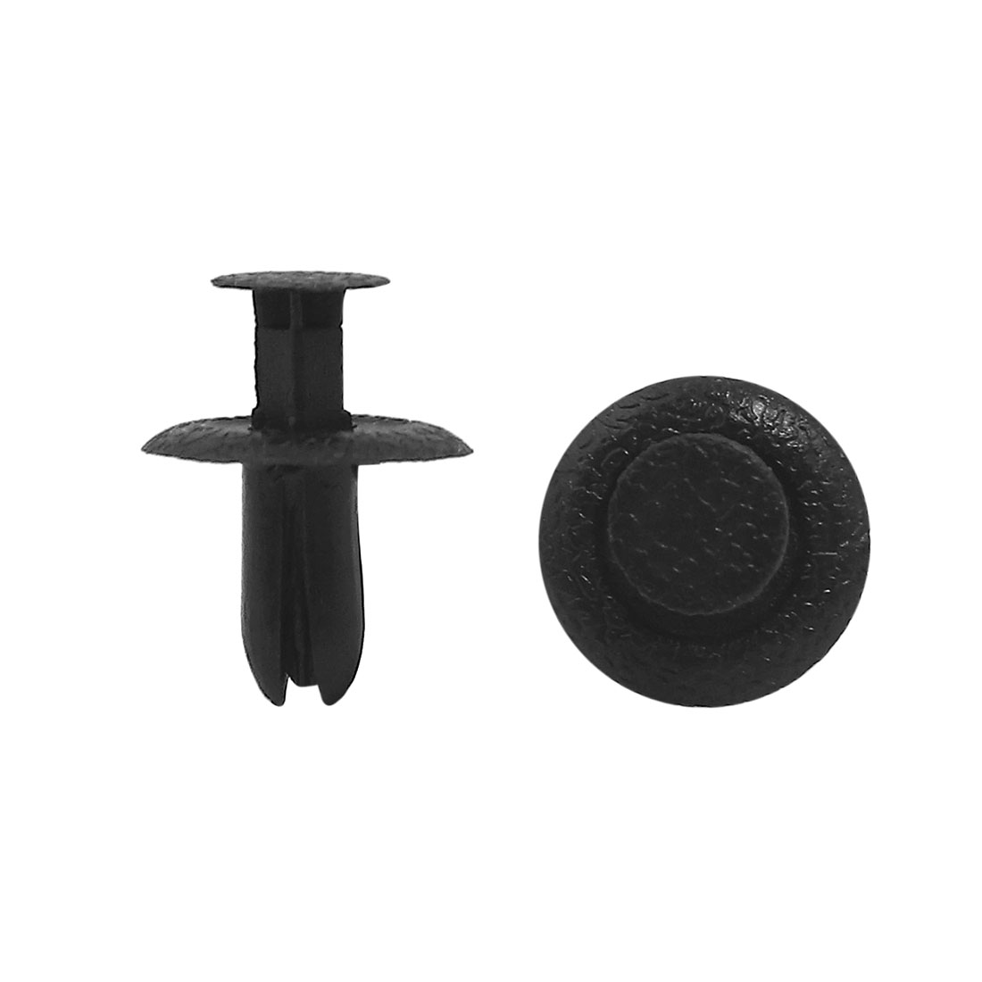 Car Plastic Rivet Bumper Fender Fastener Retainer Clip Black 6mm Hole 20pcs