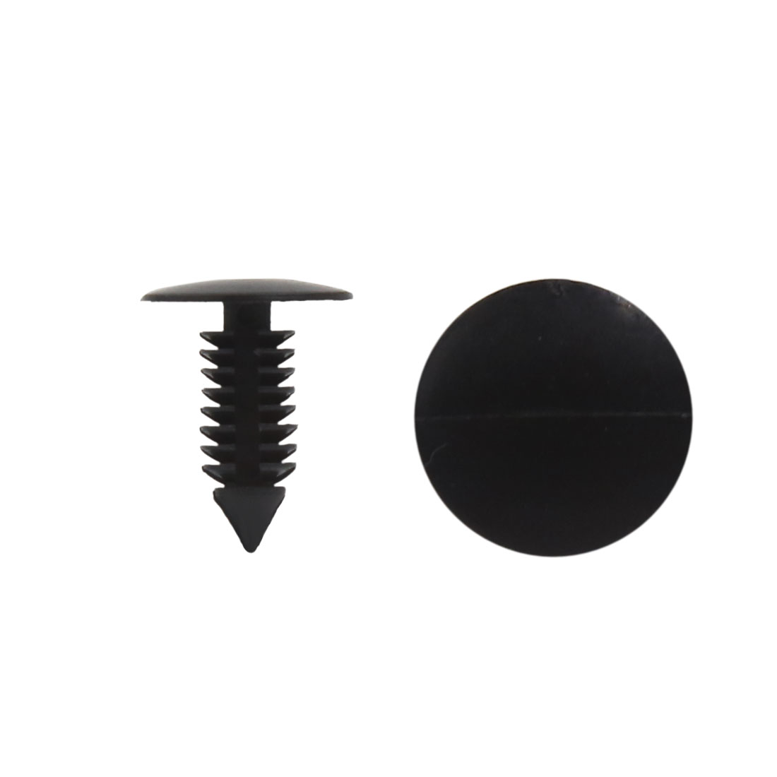 30 Pcs 8mm Dia Hole Black Plastic Rivets Fasteners for Car Auto Bumper Fender