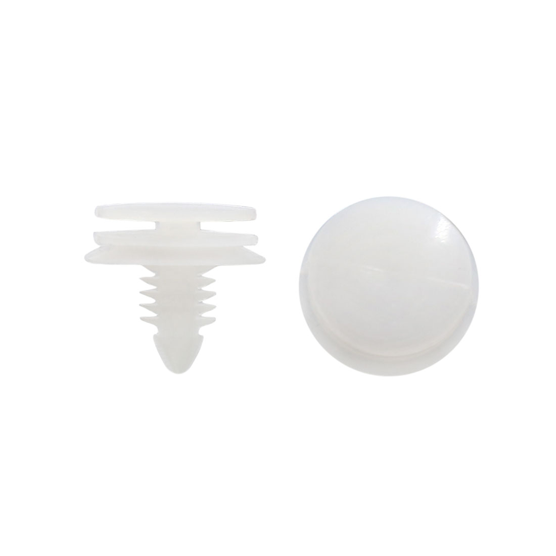 30Pcs White Plastic Rivets Fender Bumper Push Type Fastener Clip 7 x 8mm for Car