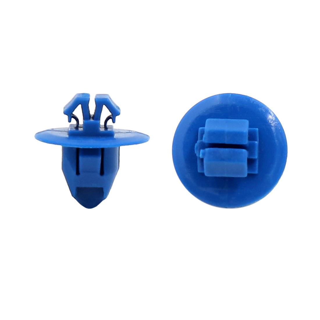 30Pcs Universal Plastic Push Type Rivet Retainer Fastener Bumper Clips Blue 11mm