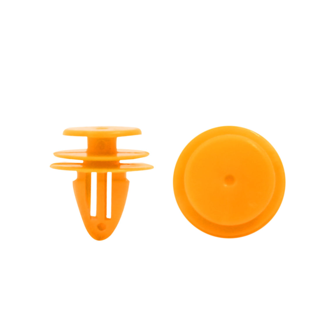 40Pcs Yellow Plastic Rivets Fastener Retainer Splash Guard Moulding Clips 9mm