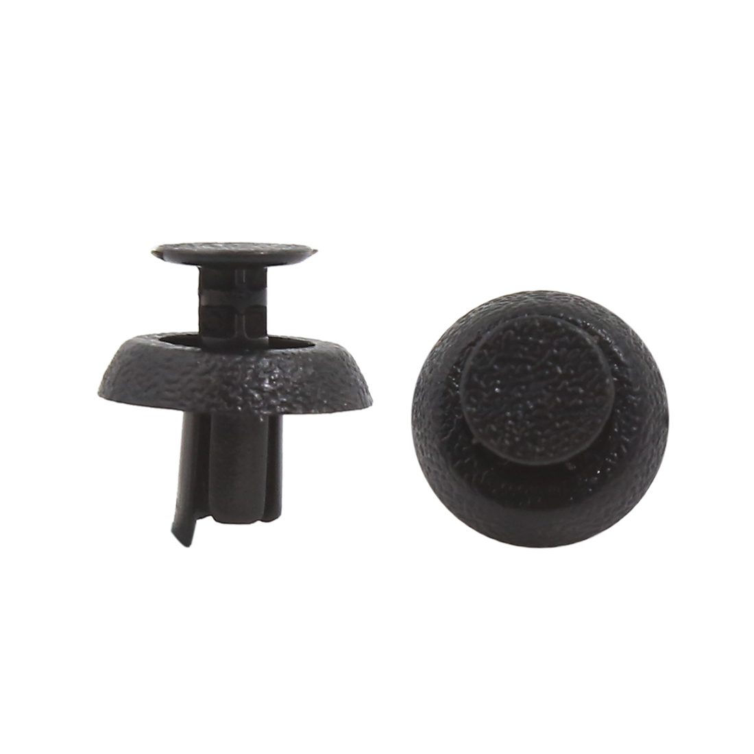 40 Pcs Black Plastic Rivets Fasteners 6.5mm Dia Hole for Car Auto Bumper Fender