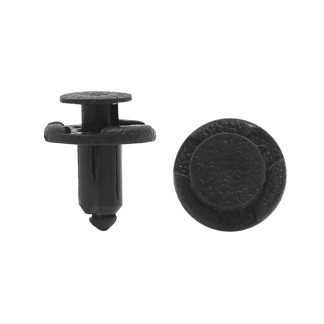 40pcs Black Plastic Rivets Fasteners 8mm Dia Hole for Car Auto Bumper Fender