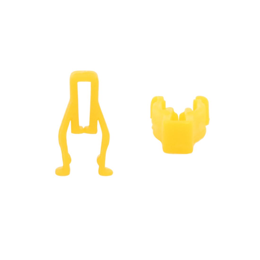 50Pcs Universal Plastic Rivet Trim Fastener Moulding Clips Yellow for Auto Car