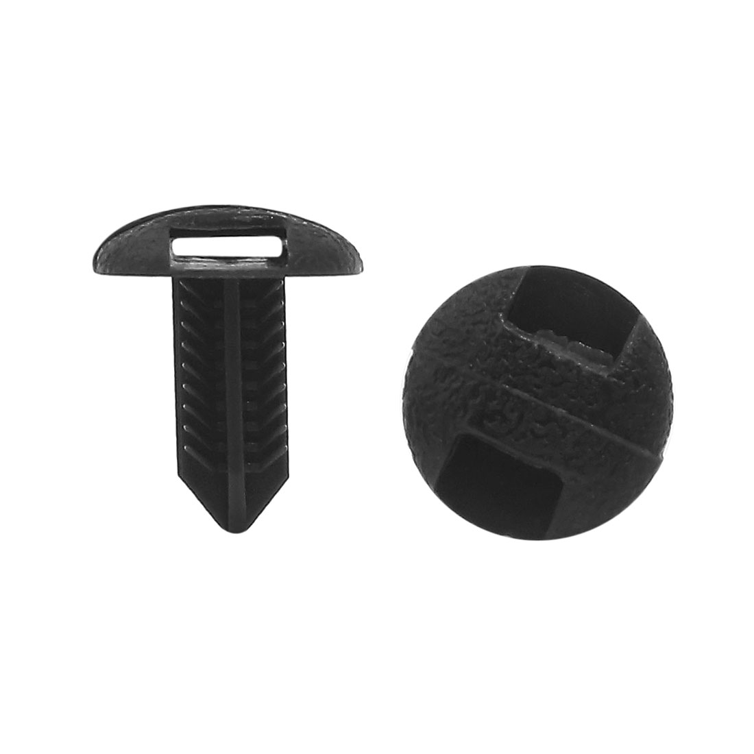 50 Pcs 7 x 6mm Hole Dia Black Plastic Rivets Retainer Clips for Car Bumper Fender