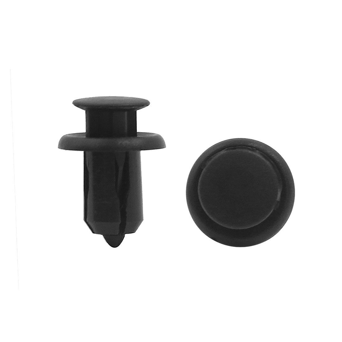 40pcs Black 11mm Hole Plastic Rivets Fastener Fender Push Pin Clips for Auto