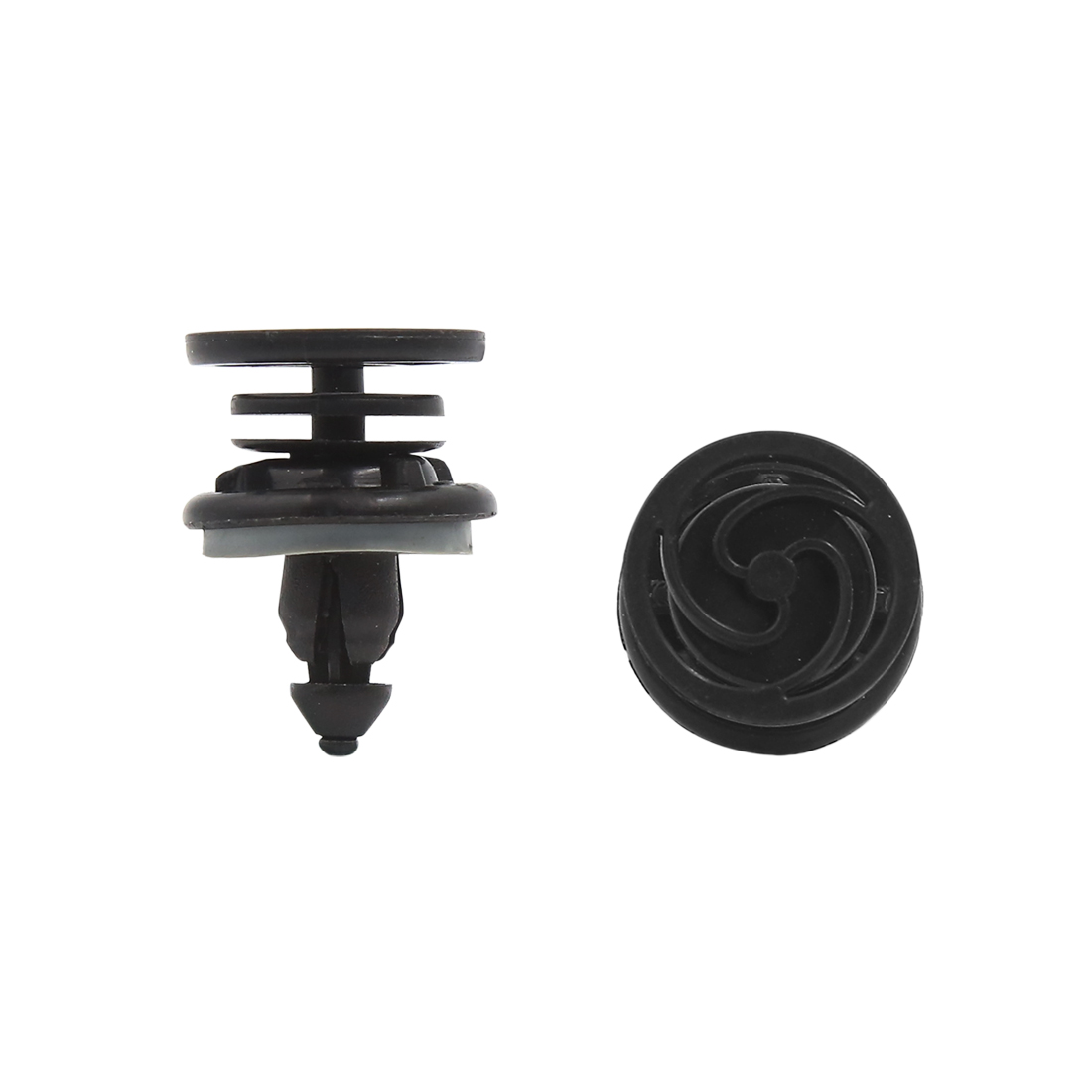 Car Plastic Rivet Bumper Fender Fastener Retainer Clip Black 8mm Hole 50pcs