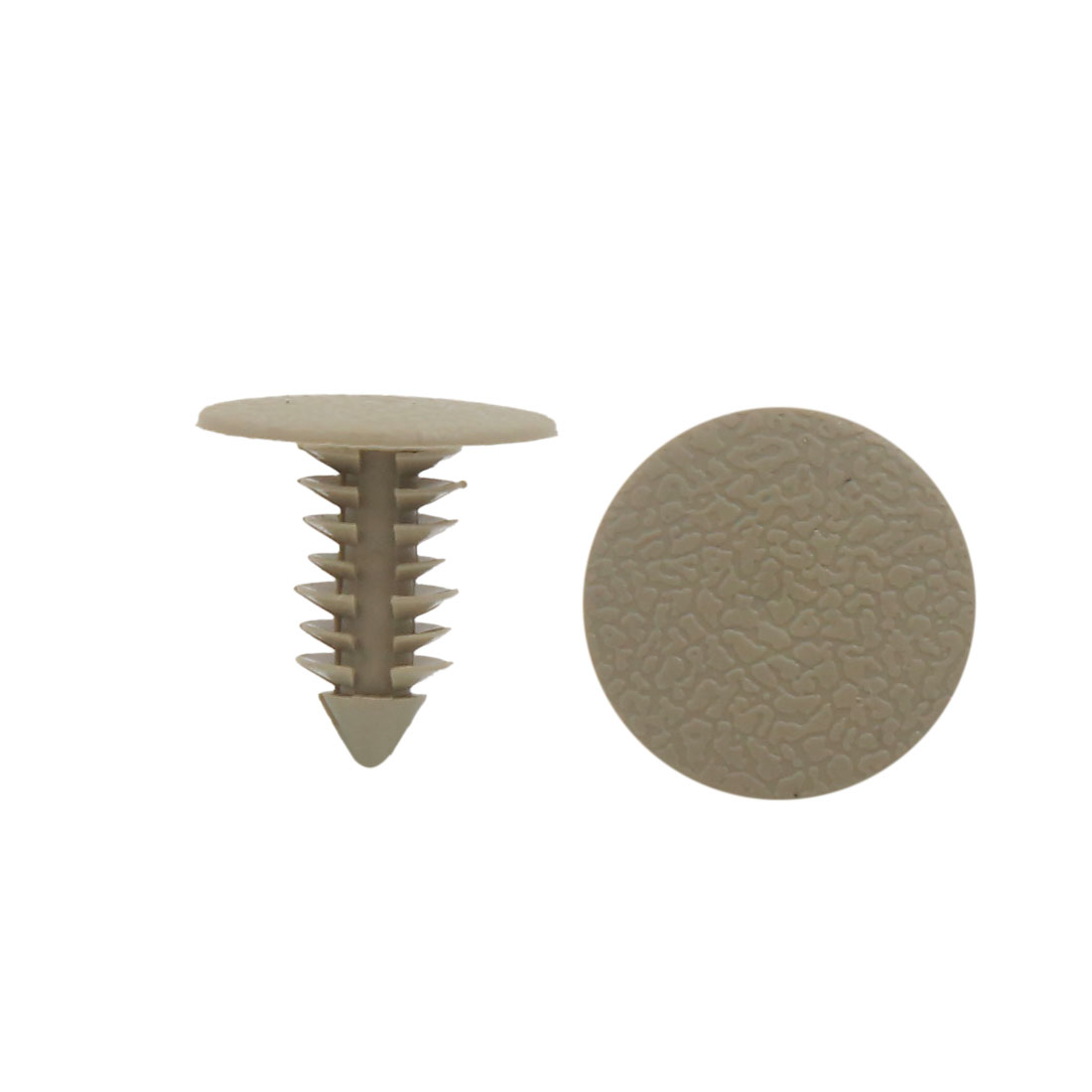 100Pcs Universal Khaki Plastic Push Type Fastener Clip Rivet 9mm for Car