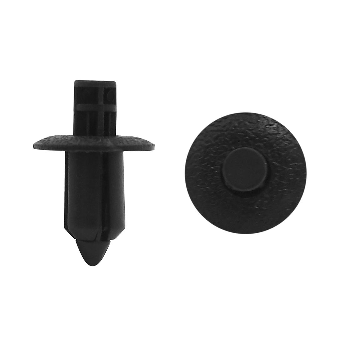 100 Pcs 8mm Hole Dia 17mm Head Plastic Rivets Fastener Push Clips for Car