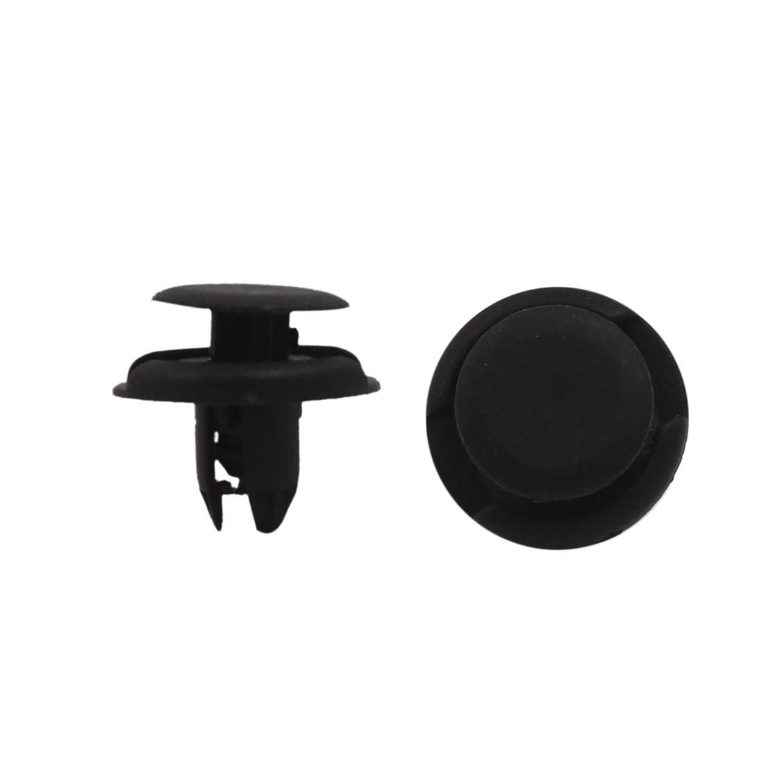 100 Pcs 8mm Hole 19mm Head Plastic Rivets Fastener Push Clips for Bumper Fender