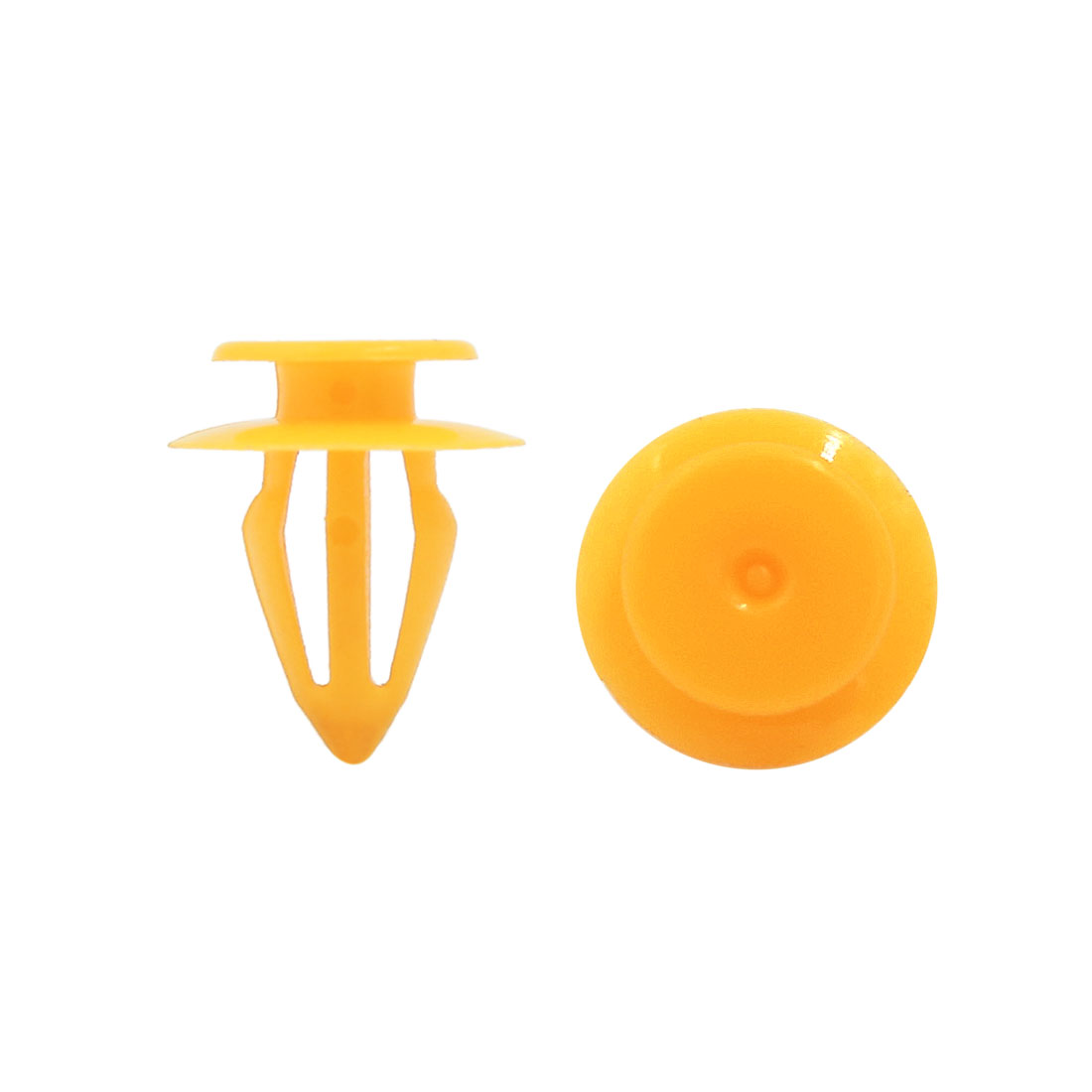 100Pcs Universal Yellow Plastic Rivets Splash Guard Fastener Clips 10mm for Car