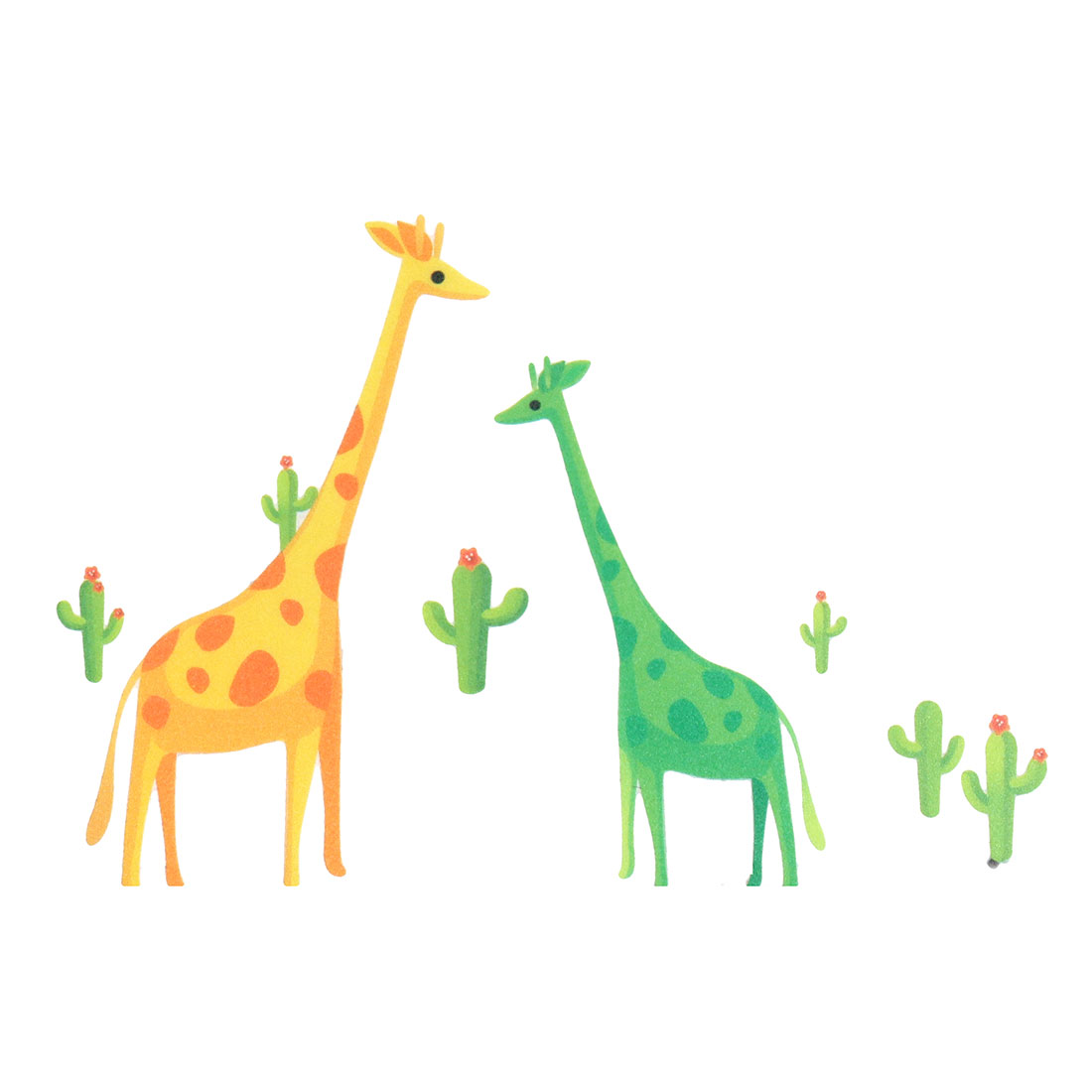 Living Room Giraffe Printed Removable DIY Mural Inspiration Art Wall Sticker