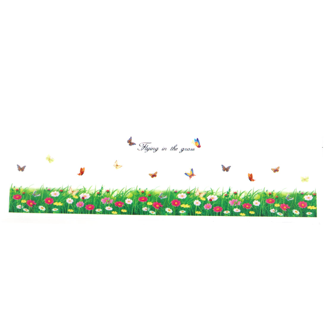 Butterfly Flying In The Grass Print Decal Mural Home Decor Peel Stick Wall Sticker