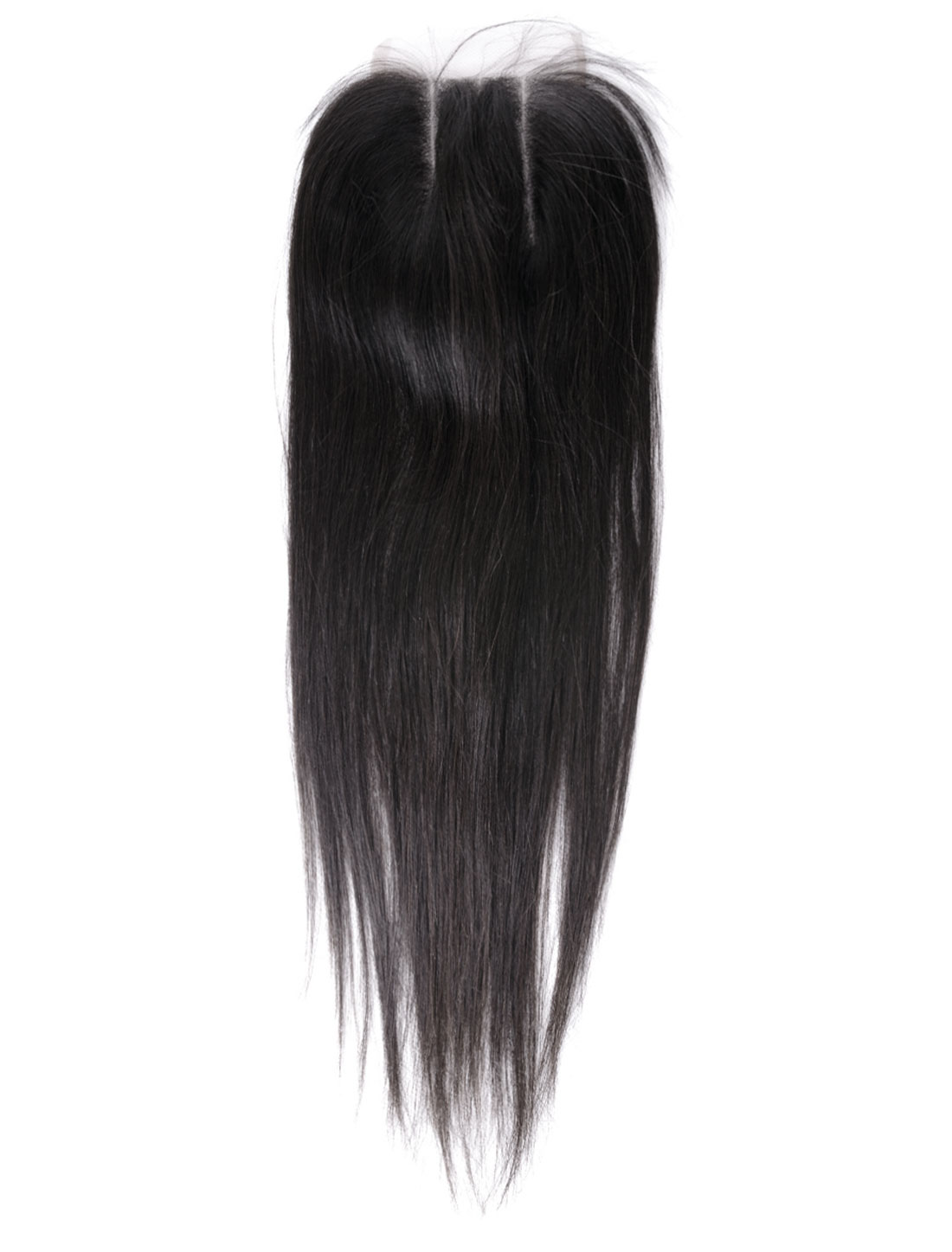 """14"""" 4x4 Front Top Invisible Lace Closure Three Part Brazilian Peruvian Straight Hair Extension"""