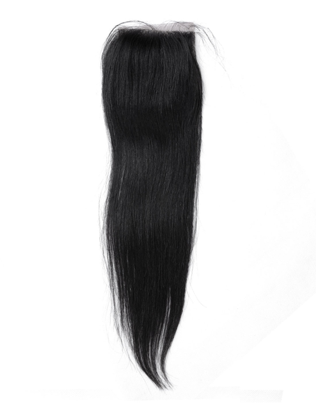 "16"" 4x4 Front Top Invisible Lace Closure Three Part Brazilian Peruvian Straight Hair Extension"