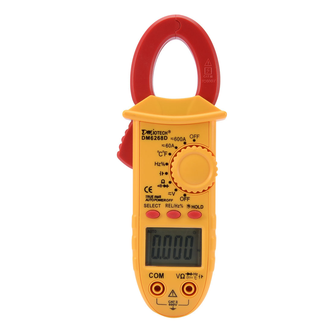 DM6268D Mini Digital Multimeter Ammeter Voltage ACV DCV Ohm Clamp Meter Tester Handheld
