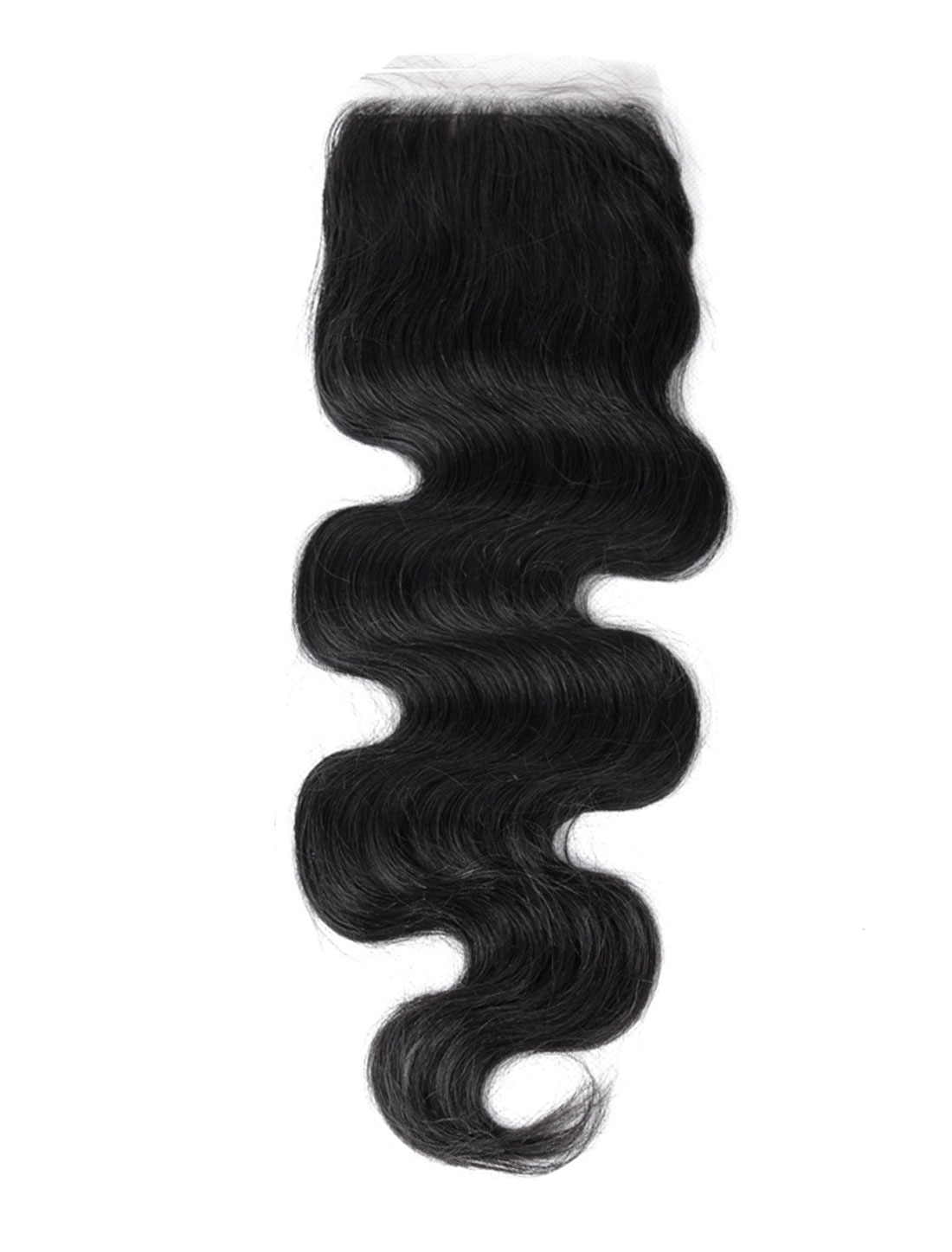 "10"" 4x4 Front Top Invisible Lace Closure Free Part Brazilian Peruvian Body Wave Hair Extension"