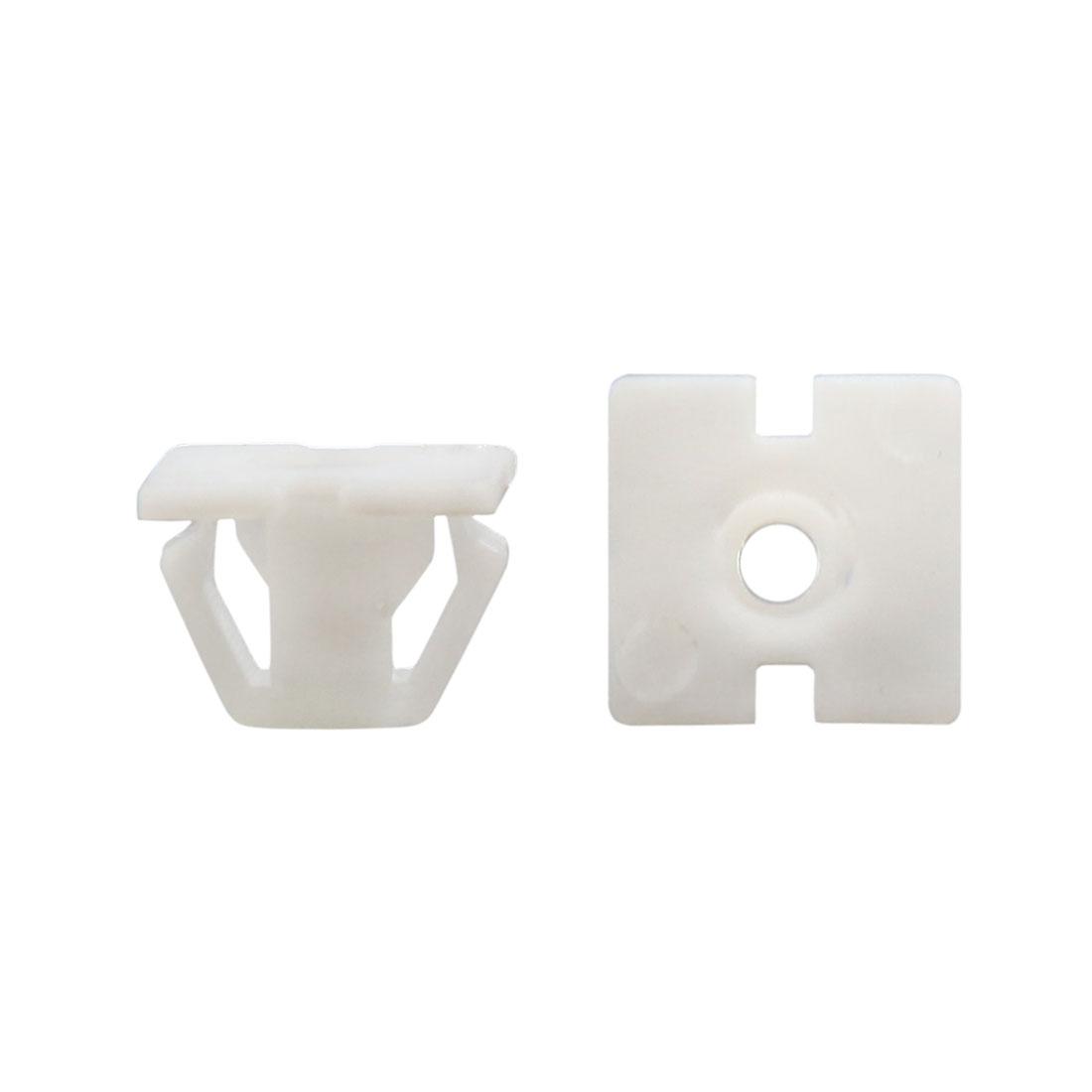 20Pcs Universal Plastic Rivet Fastener Mud Flaps Bumper Fender Clips White 13mm
