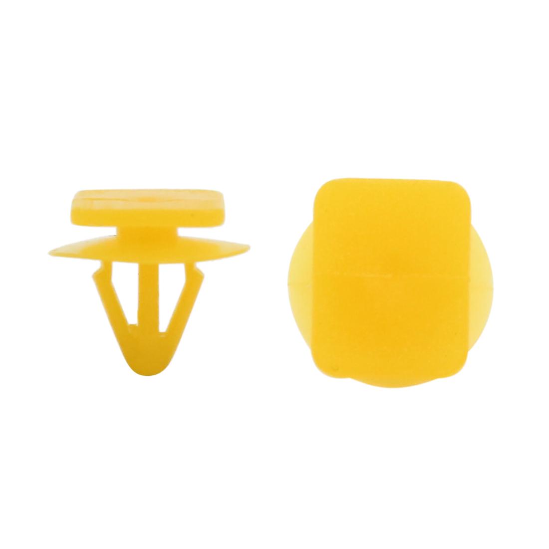 20Pcs Yellow Plastic Rivets Door Trim Bumper Moulding Fastener Clips 8mm for Car