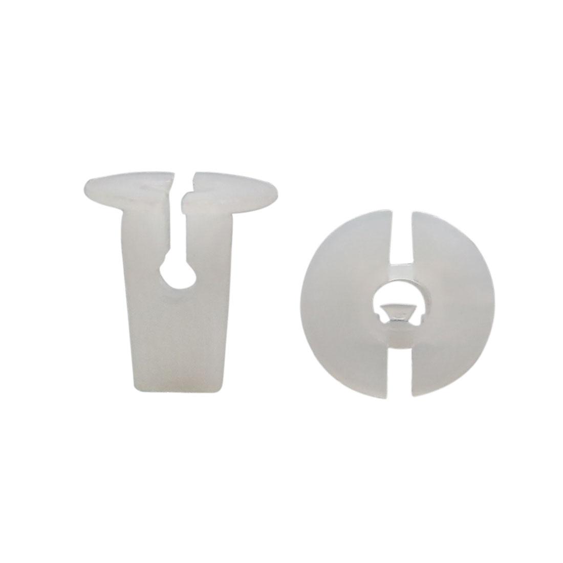 30Pcs White Plastic Rivet Push-Type Car Bumper Retainer Clips for 7 x 6mm Hole