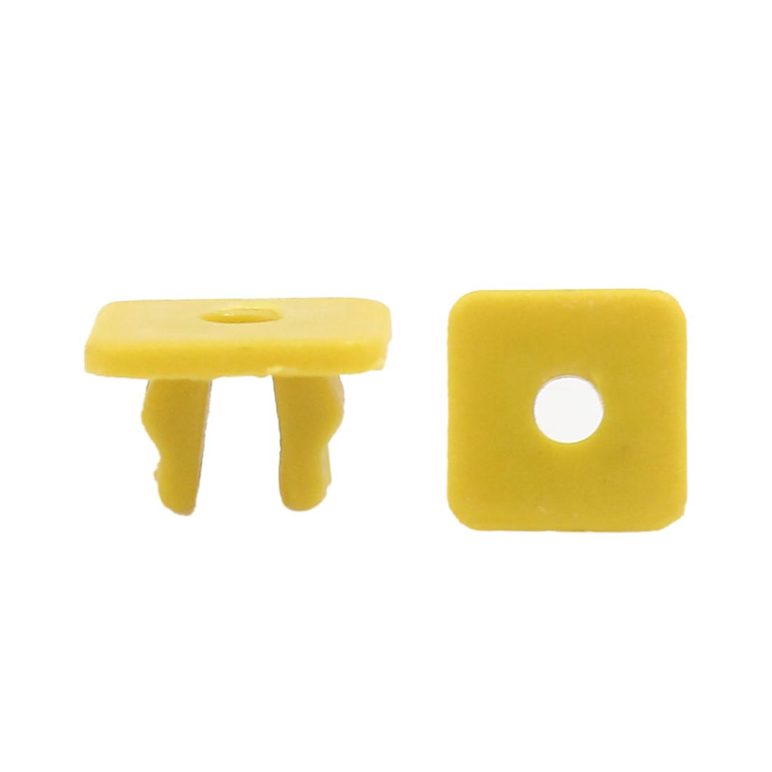 30Pcs Universal Car Plastic Rivets Bumper Fender Fastener Retainer Yellow 9 x 8mm