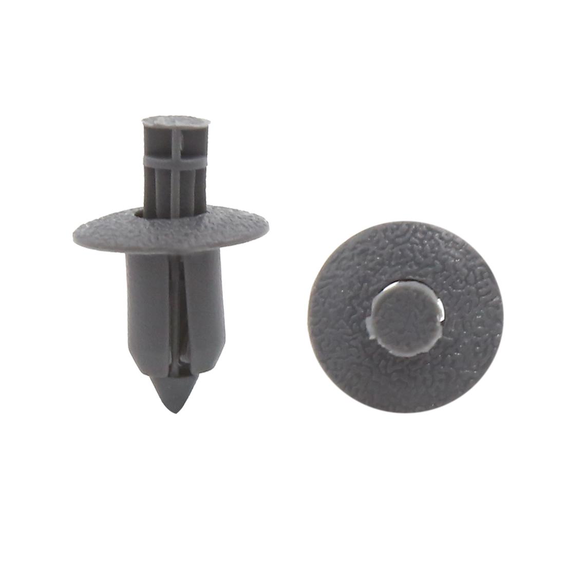 30Pcs 8mm Hole Plastic Push Type Rivet Fastener Door Bumper Pin Clips Gray