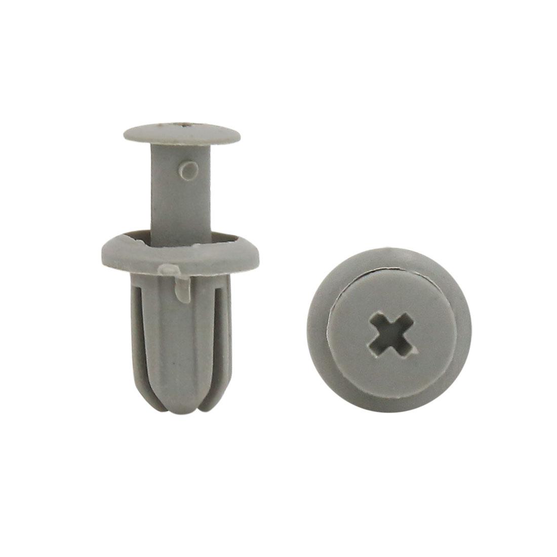 30Pcs Gray Plastic Rivets Push Pin Interior Moulding Clips Fender Fastener 9mm