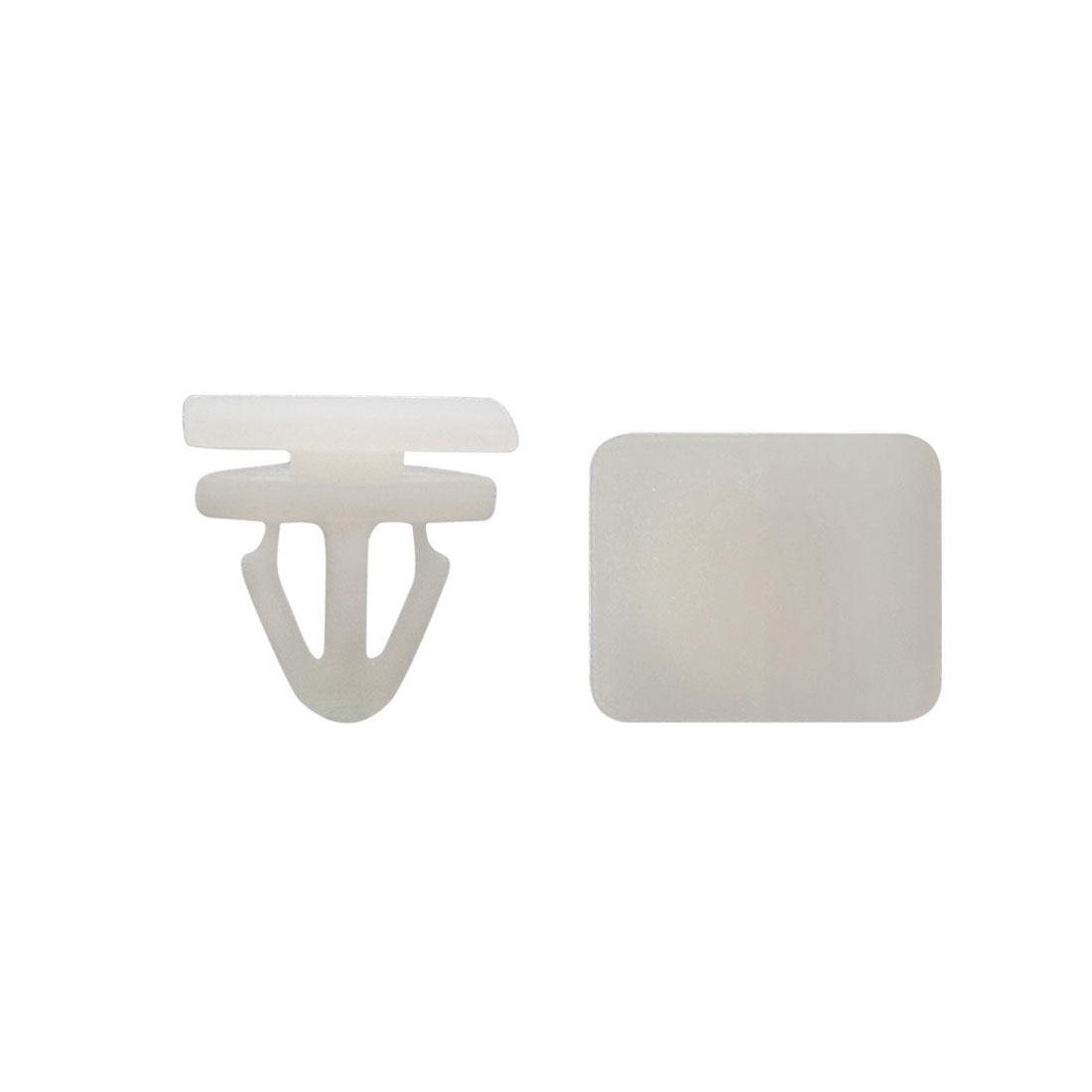 Universal Car Plastic Rivet Bumper Trim Panel Clips Retainer White 10mm 40Pcs