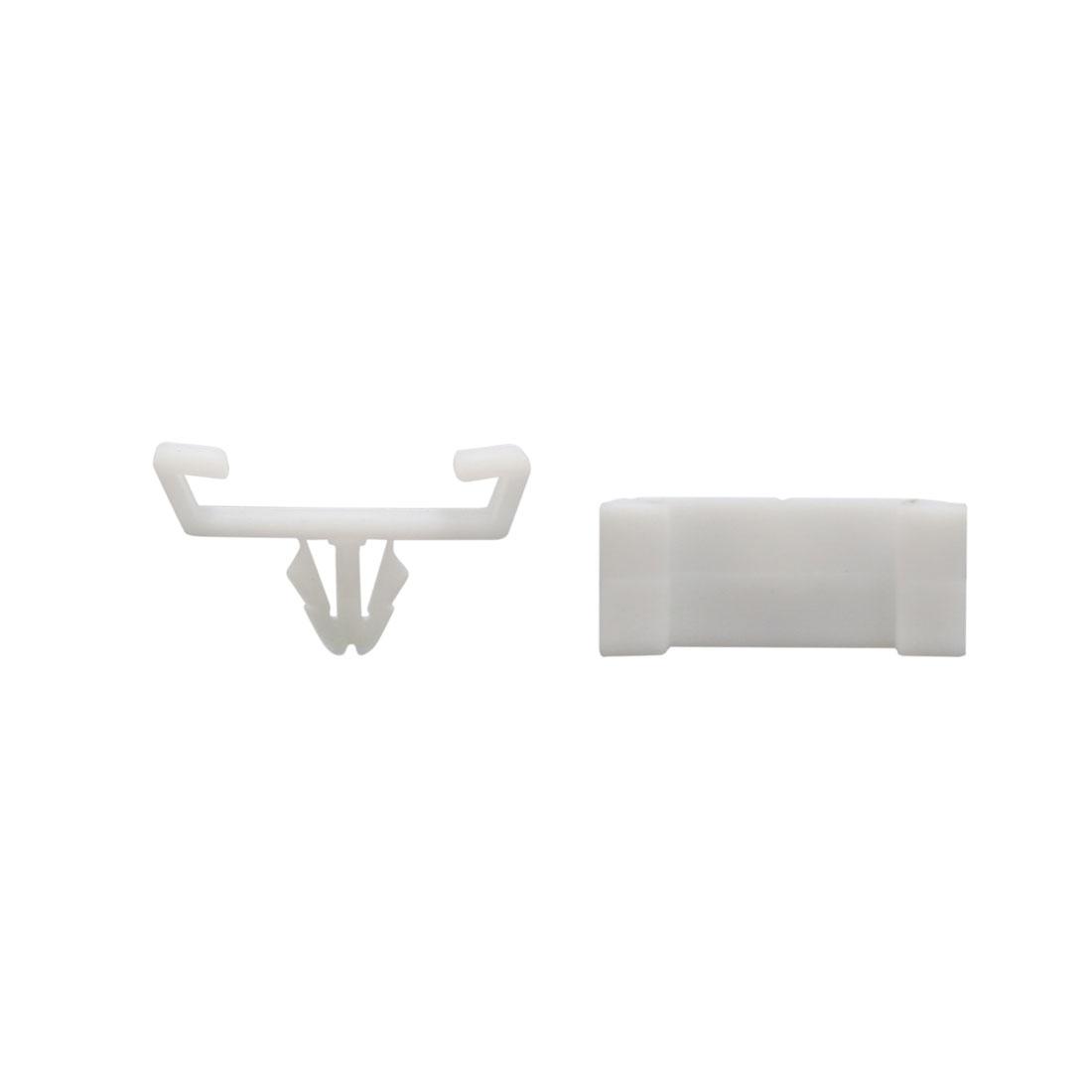 50Pcs White Plastic Rivets Door Fender Moulding Fasteners 11mm for Auto Car