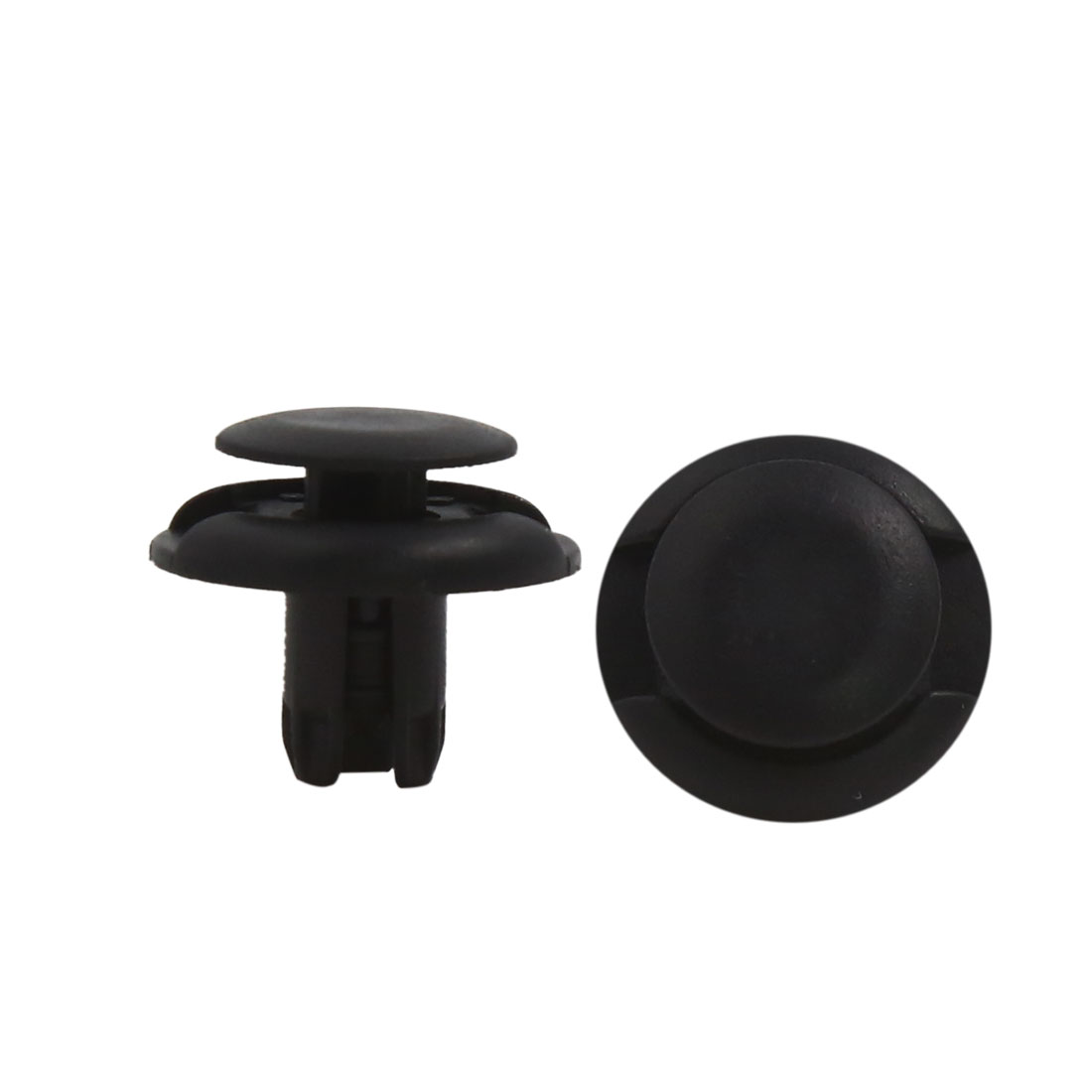 50Pcs Black Plastic Rivets Push Pin Arch Moulding Clips Fastener Retainer 8mm
