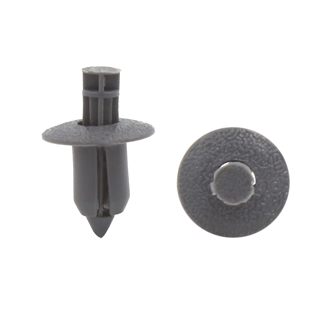 50Pcs 8mm Hole Plastic Push Type Rivet Fastener Door Bumper Pin Clips Gray