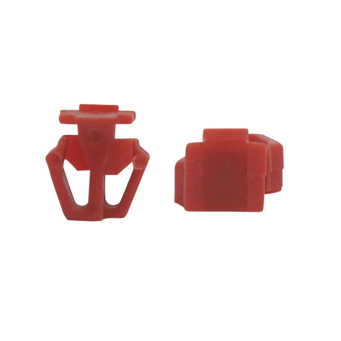 50Pcs Red Plastic Rivets Bumper Fender Clips Arch Moulding Fastener 13mm for Car