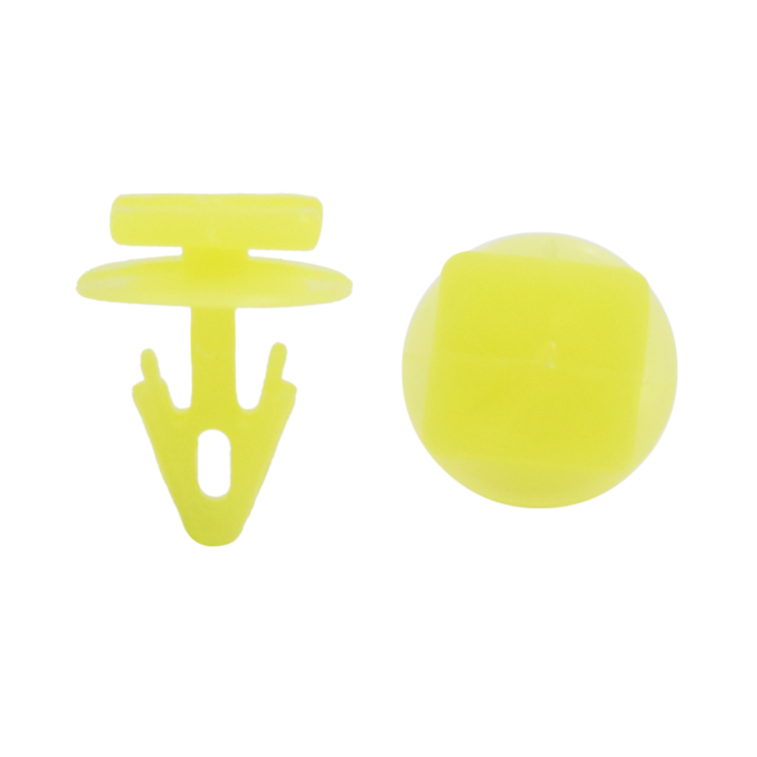 50pcs Yellow Plastic Rivets Interior Moulding Clips Fender Fastener 9mm for Car