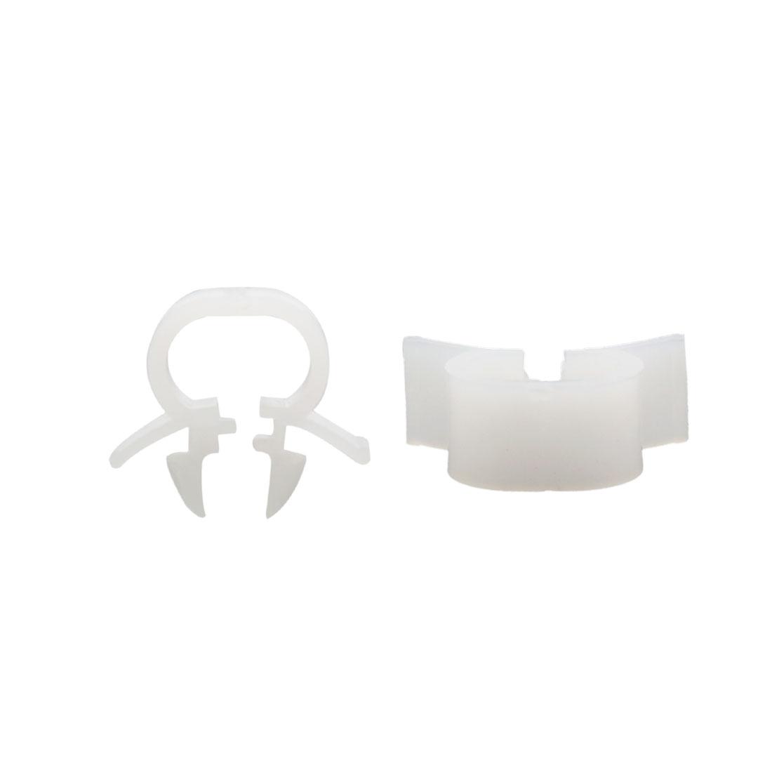 100Pcs White Plastic Rivets Interior Carpet Floor Mat Arch Clips 11mm for Car
