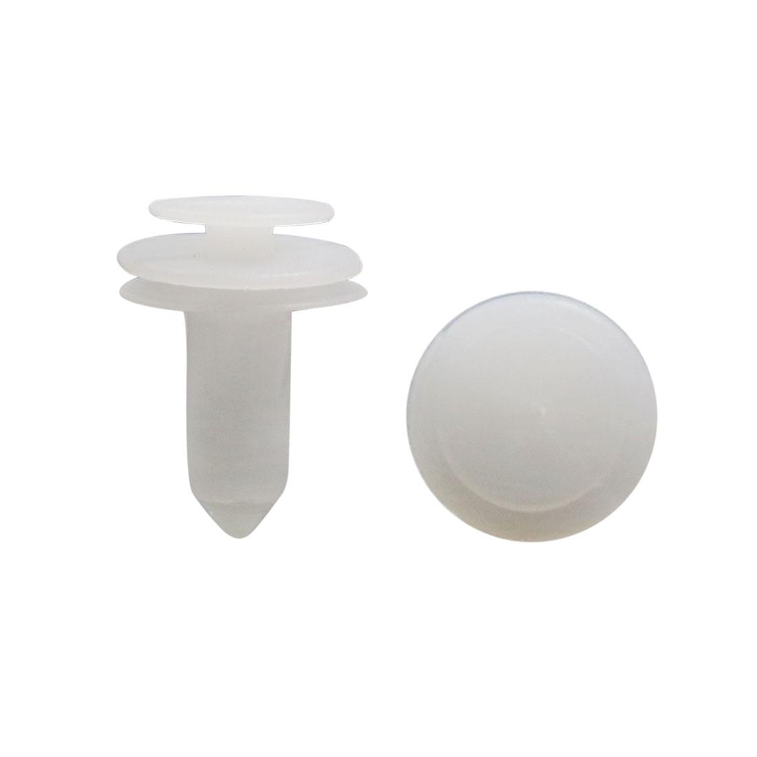 100Pcs Plastic Rivets Push Pin Type Bumper Fender Fastener Retainer White 9mm