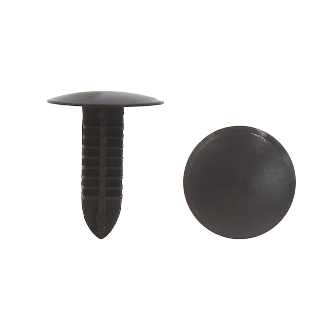 100Pcs Black Plastic Rivet Door Trim Panel Hood Moulding Clips 5 x 5mm for Car