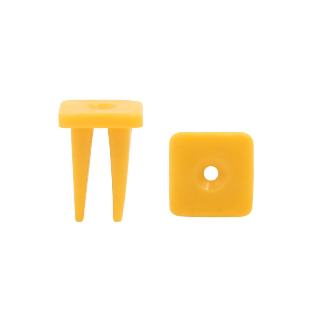 100Pcs Yellow Plastic Rivet Door Trim Panel Hood Moulding Clips 8 x 8mm for Car