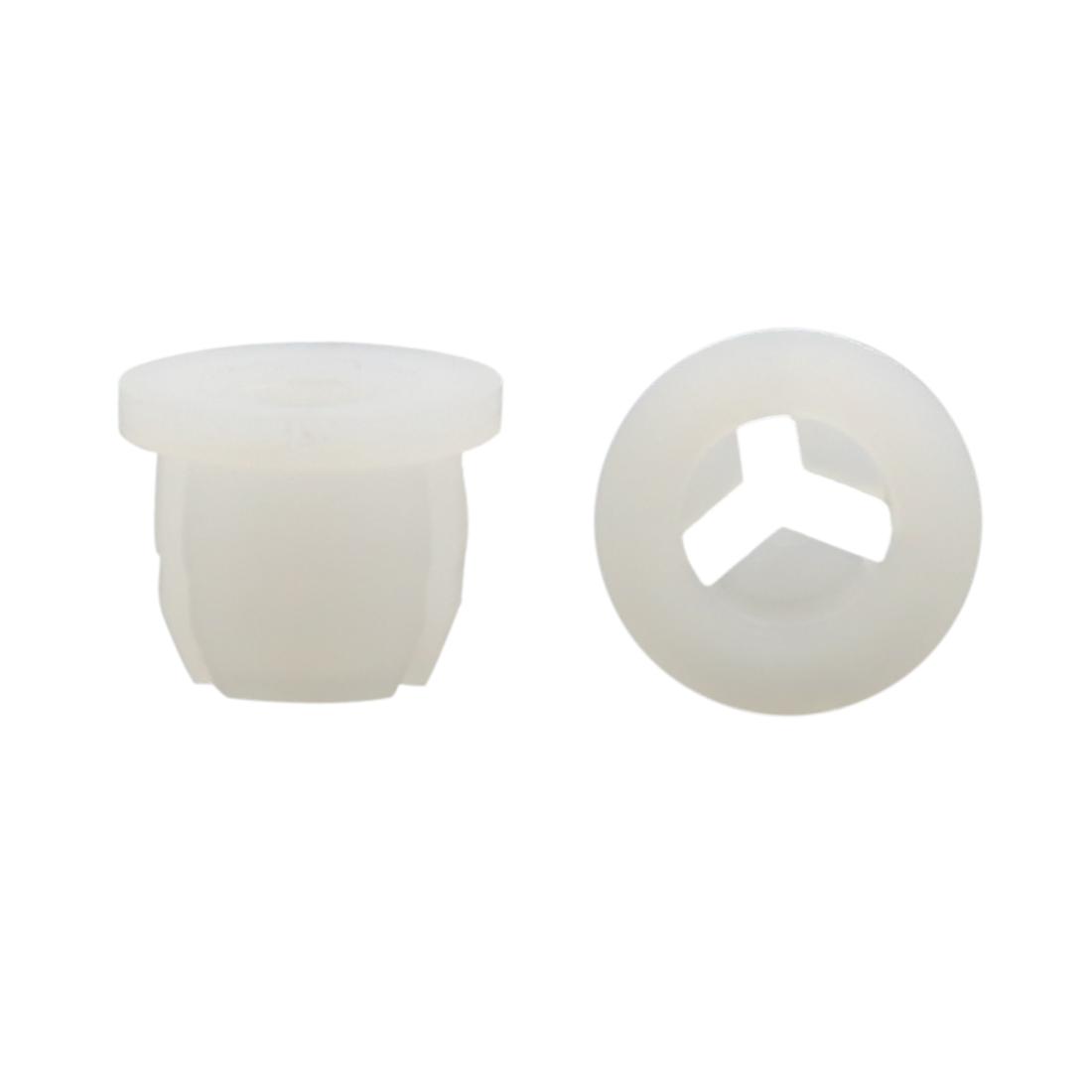 100Pcs White Plastic Rivets Fastener Fender Bumper Push Clips 10mm for Car