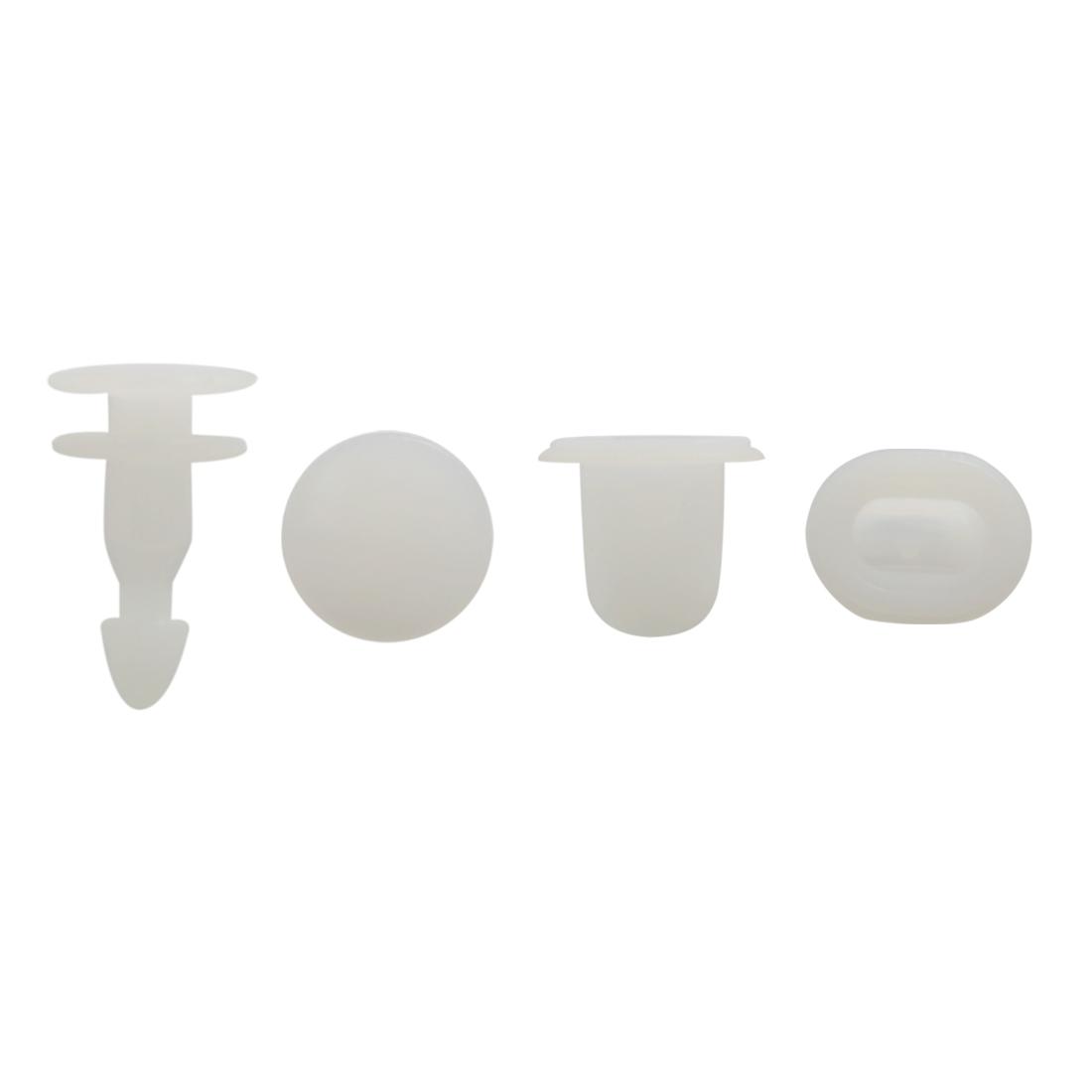100Pcs Plastic Rivets Weatherstrip Moulding Clips Bumper Fender Fasteners 11mm