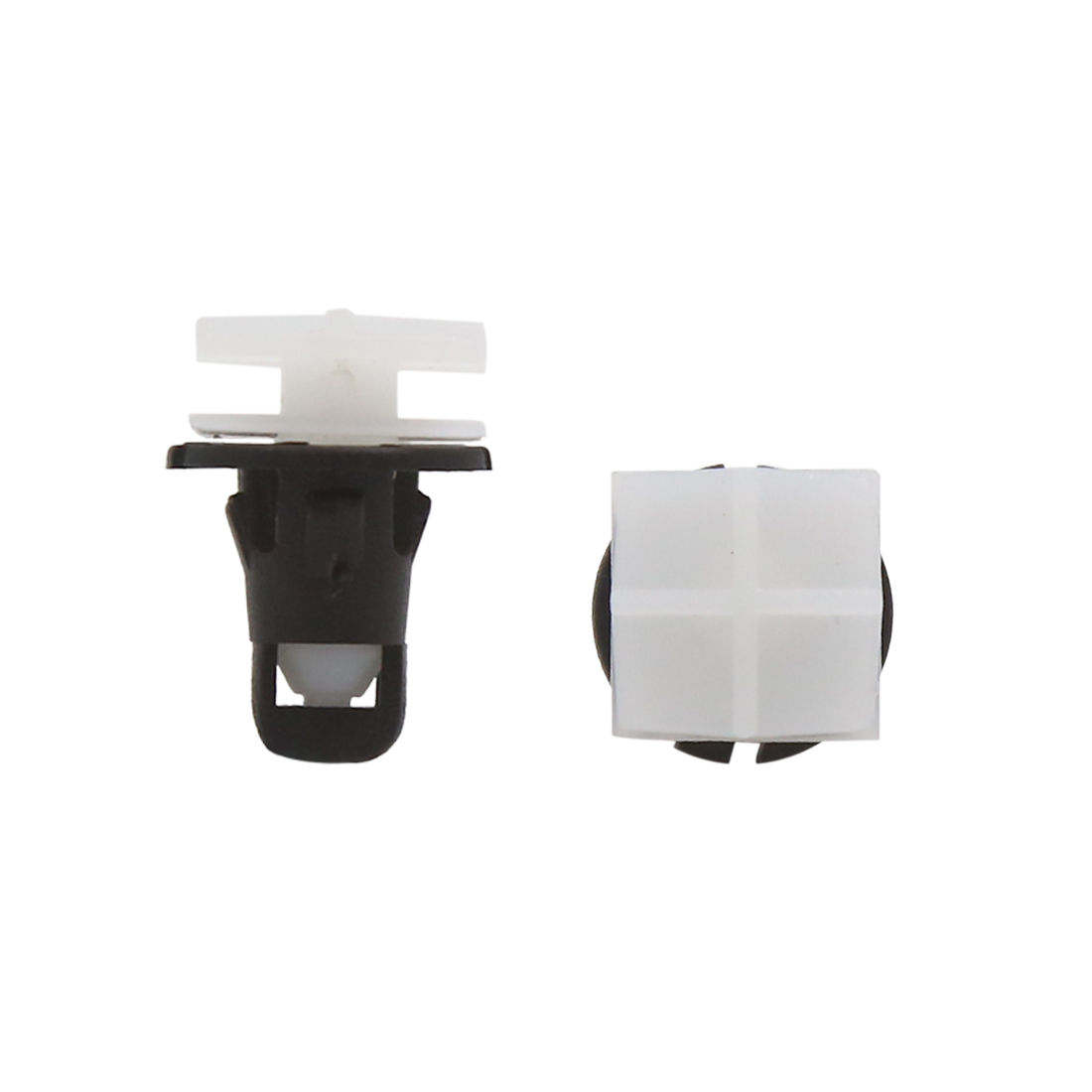 100Pcs Black White Plastic Clips Push Pin Retainer Rivets Fender Fastener 10mm