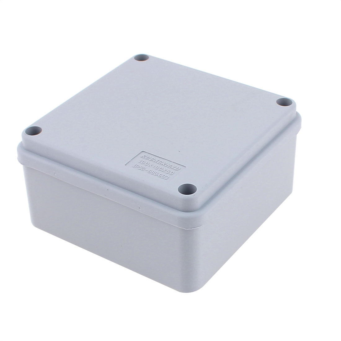 100 x 100 x 50mm Dustproof IP65 Junction Box DIY Sealed Connecting Box Enclosure